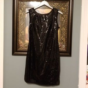 Cynthia Rowley sequin dress with frayed trim  A222